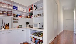 Custom designed Butler's Pantry great for hidden preparation.