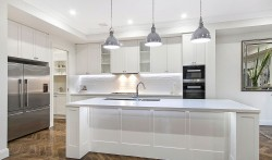 2 pac painted kitchen with stone tops