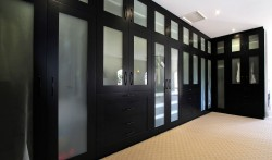 Your dream walk in robe with 2 pack painted solid timber doors with Acid Etched glass inserts.