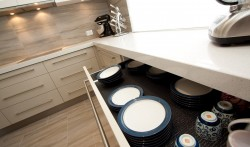 Soft close drawers suitable upto 60kg.